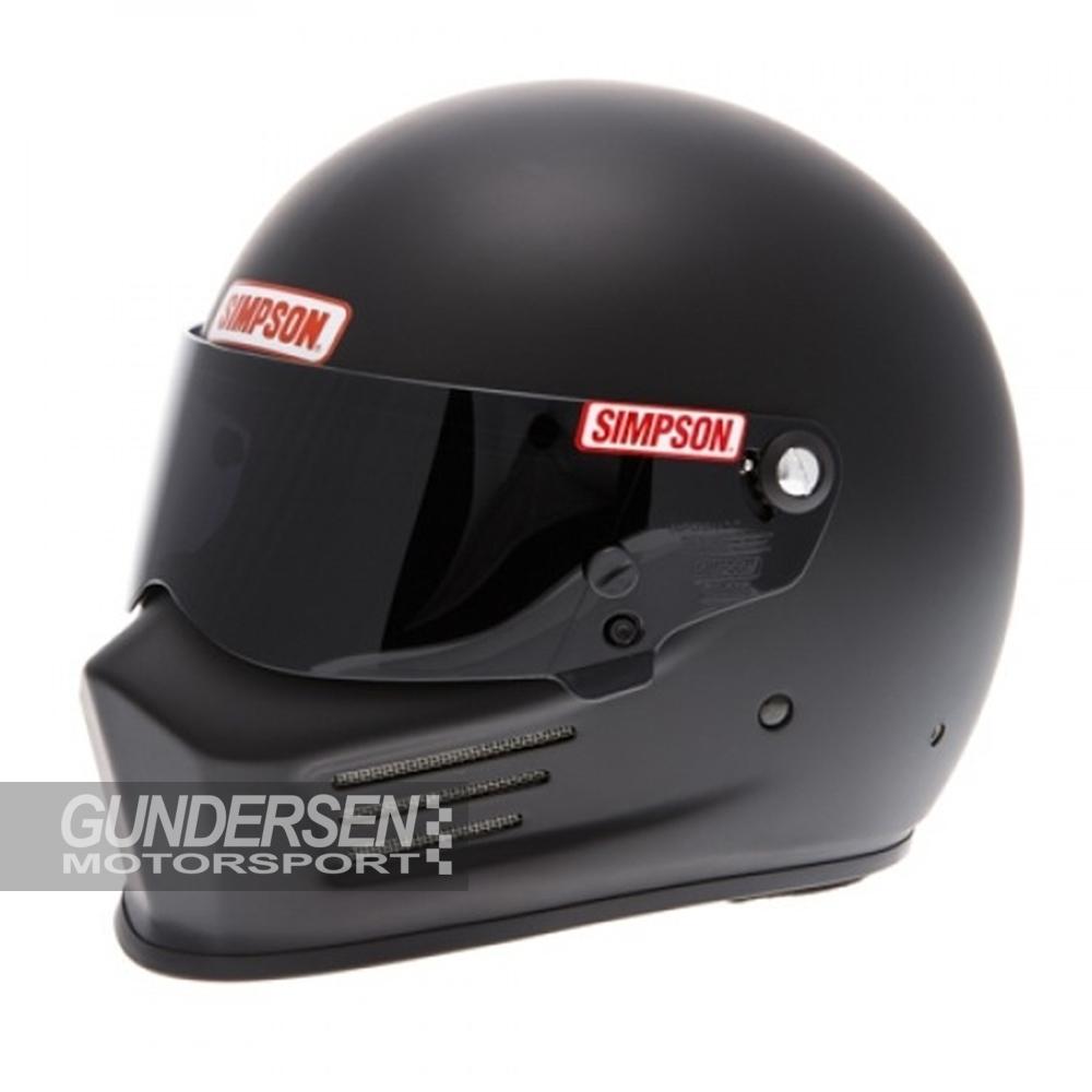 Simpson hjelm Bandit flat Black fia godkjent