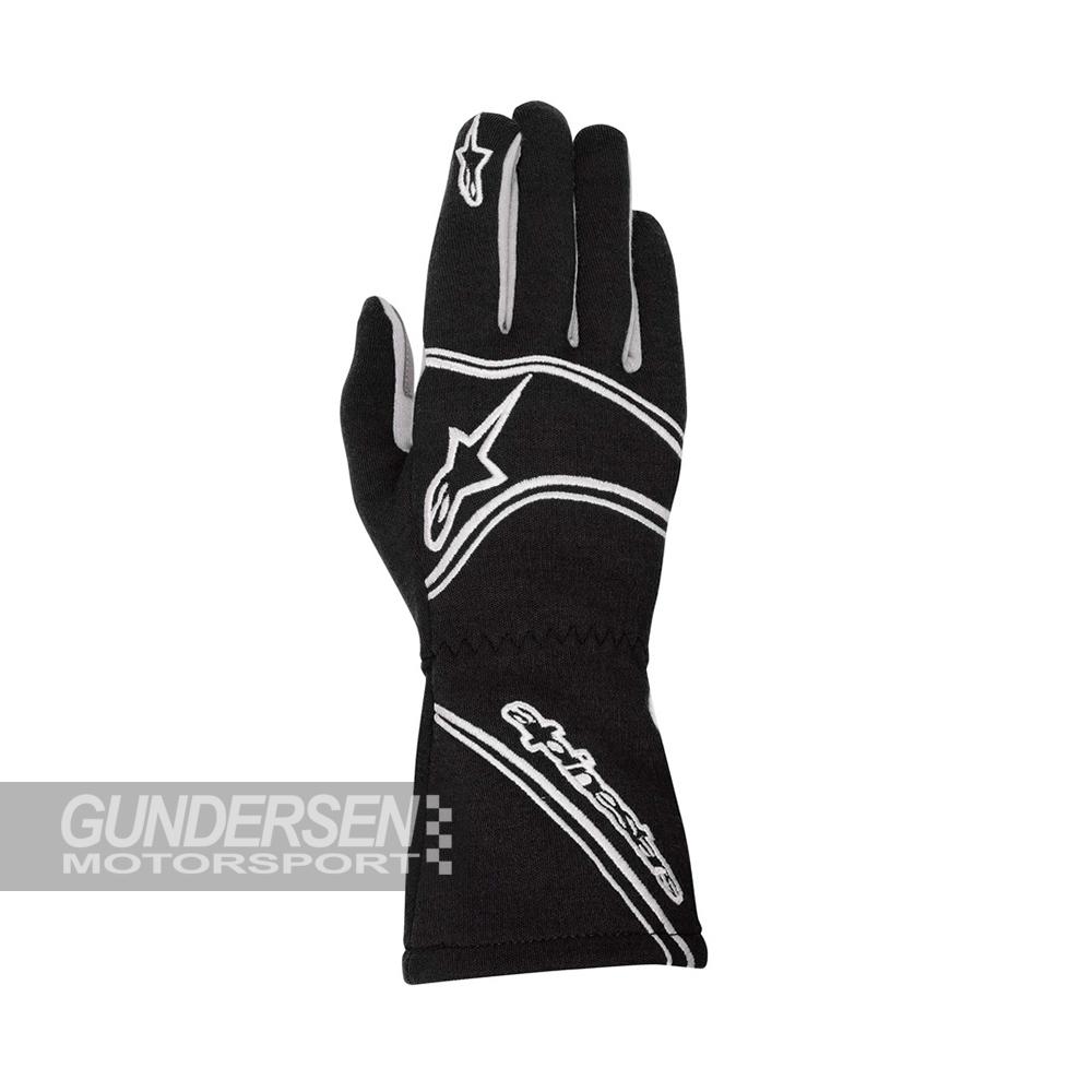 Alpinestars fia hansker Tech 1ZX svart / sølv / hvit