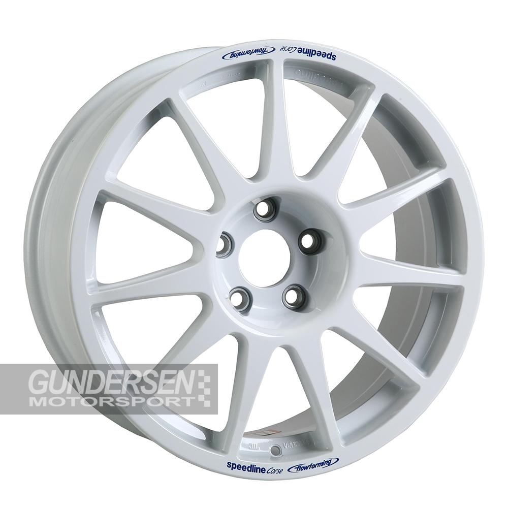 Speedline 8x18 8x18 et55 5x135 Fiesta WRC hvit