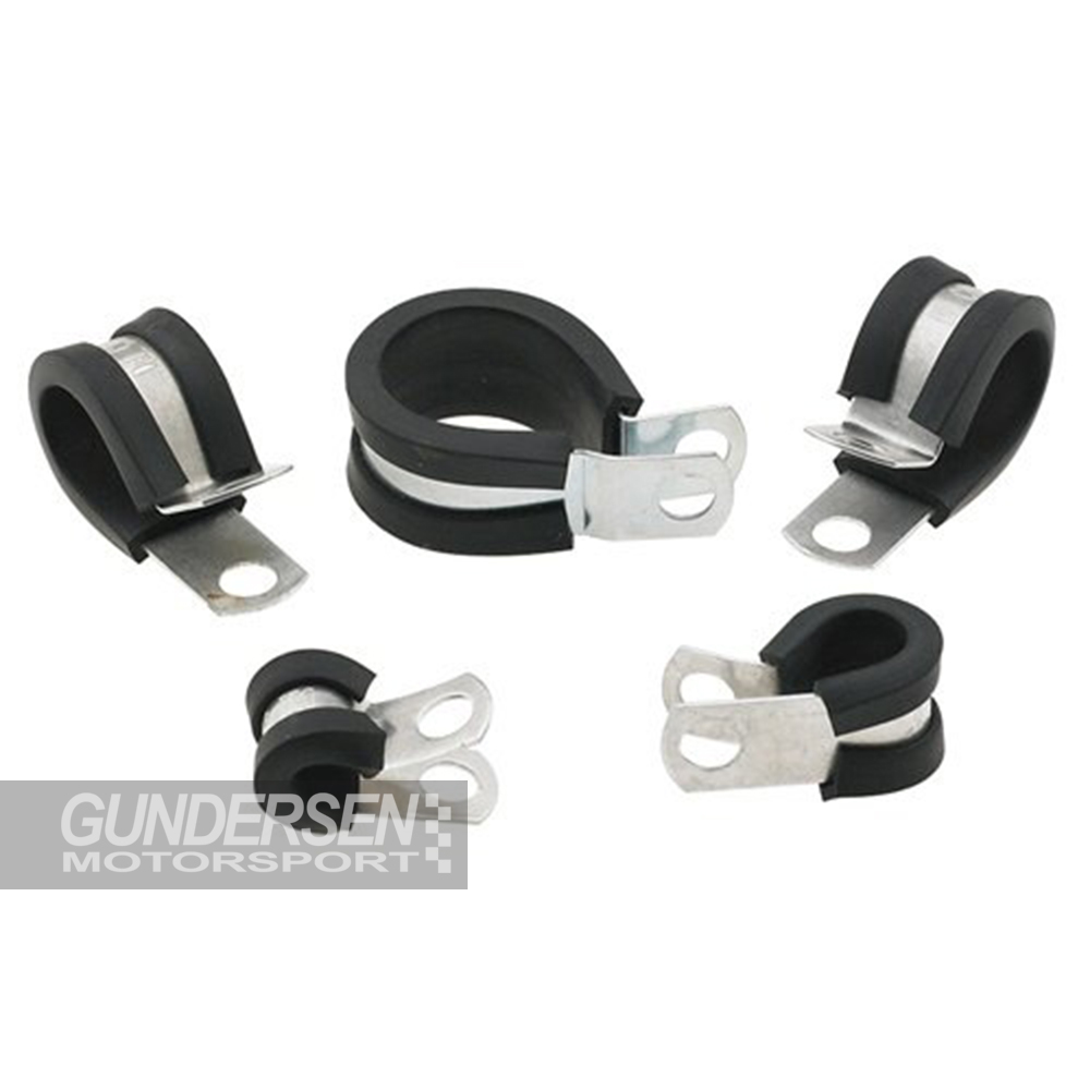 """1/2"""" padded line clamps 10 stk"""