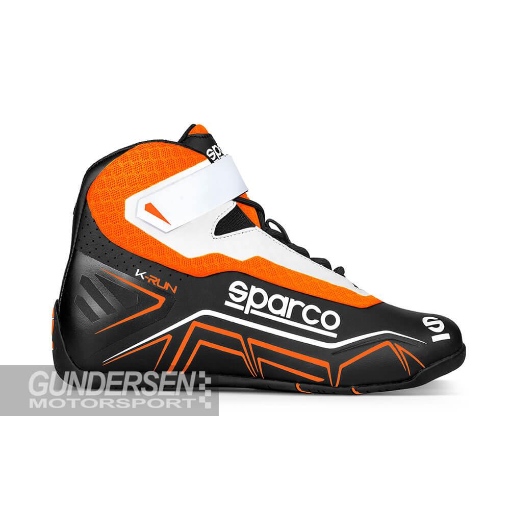 Sparco Gokart Sko K-RUN Svart/Orange
