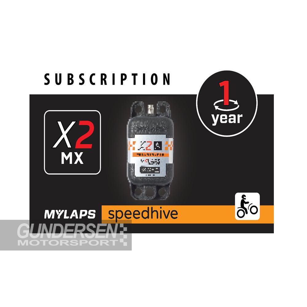 Mylaps X2 Påfyllingskort Mx (Motocross) 1 år