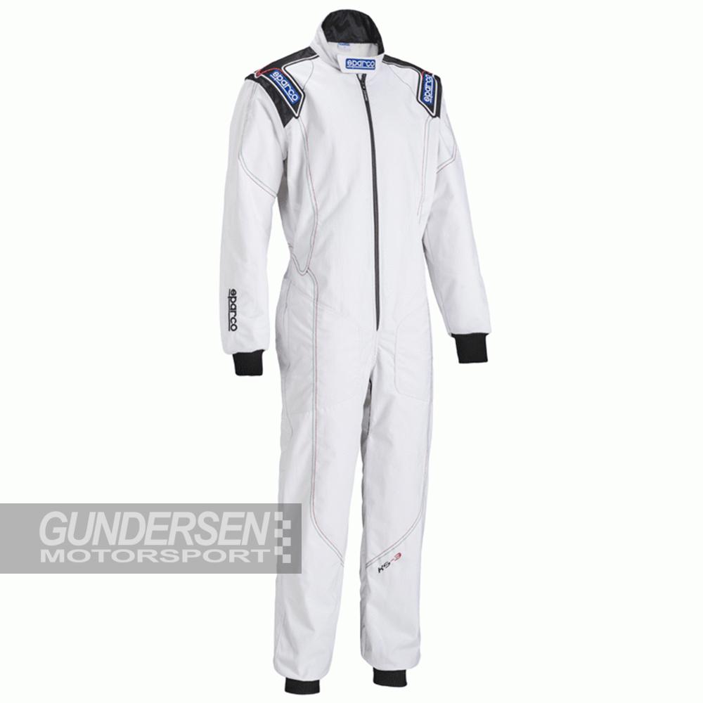 Sparco Gokart Dress KS-3 Hvit