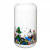 Glassvase stor hvit