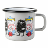 Emaljekopp stor Moomin and friends, grey