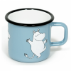 Emaljekopp stor, Moomin Light blue