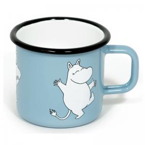Emaljekopp stor, Moomin Light blue