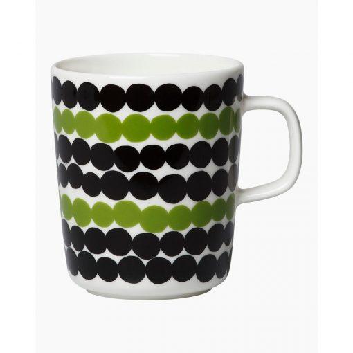 Siirtolapuutarha mug 2,5 dl grønne prikker