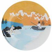 Moomin fishing plate