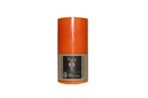 100% Ren lys stor orange