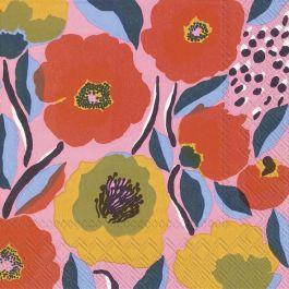 M serviett Rosarium rose