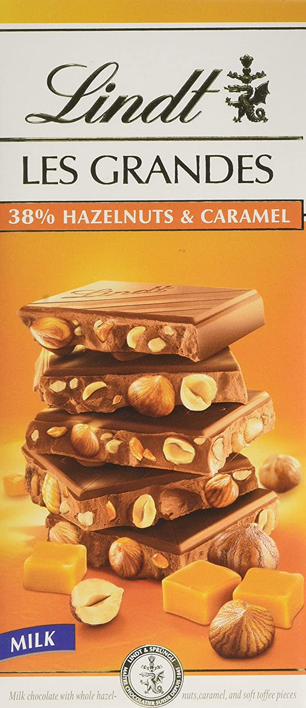 Lindt 38% hazelnuts-caramel