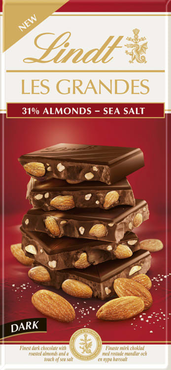 Lindt 31% almonds - sea salt