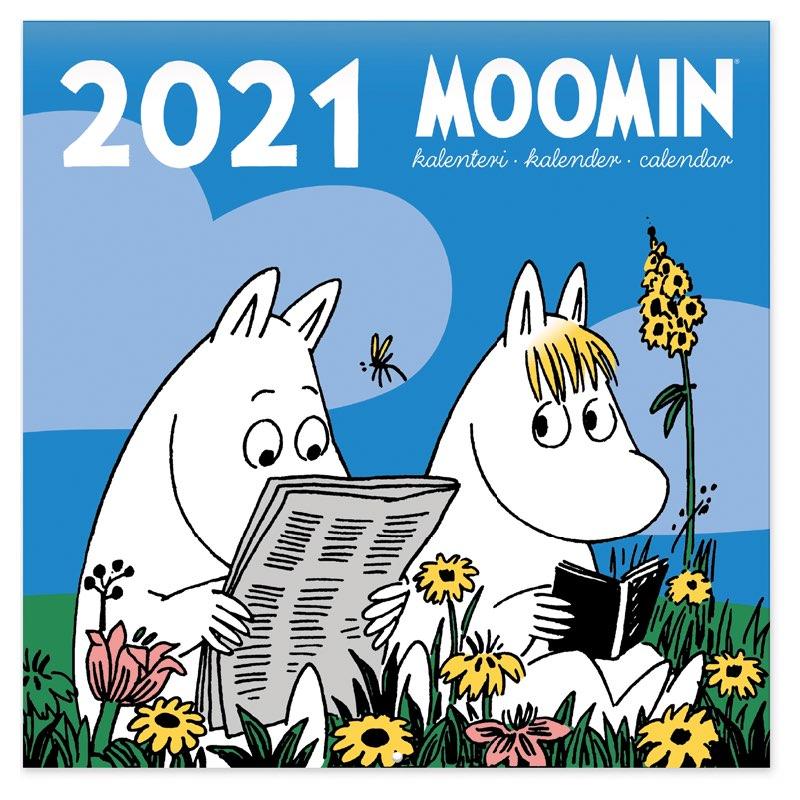 Veggkalender mummi farger 2021