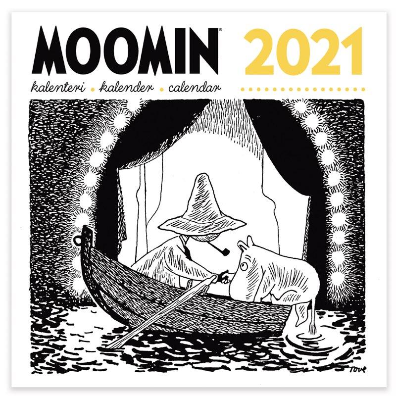 Veggkalender 2021 svart/hvit