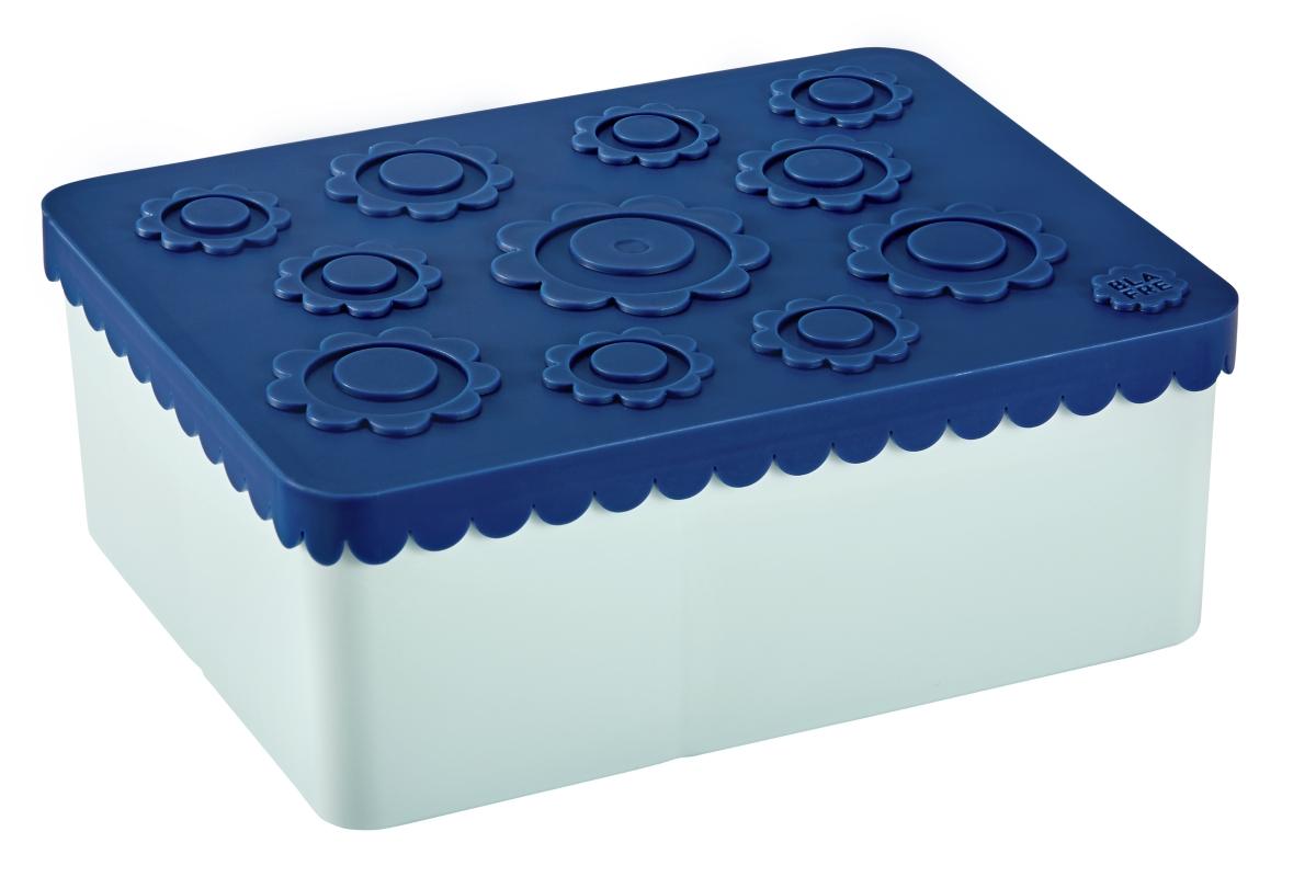 Matboks flower blå