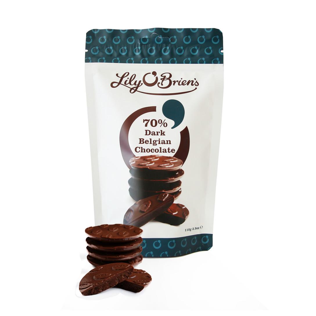 Lily O'Briens 70% dark belgian chocolate