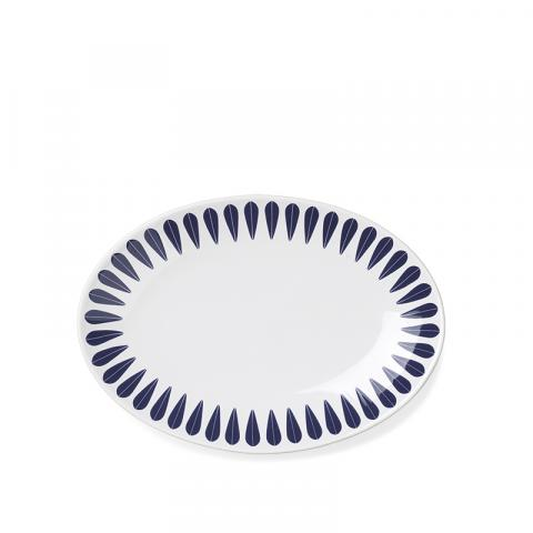 Frokosttallerken mørk blå