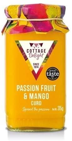 Passionfruit & mango curd
