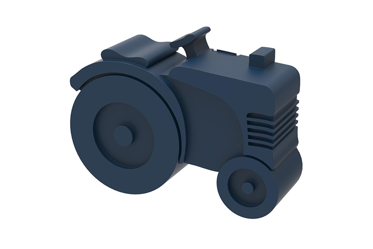 Traktor mørkeblå matboks