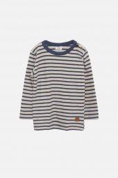 Hust&Claire - Genser Anton med striper, blå