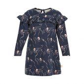 Creamie - Kjole med svaneprint, Total Eclipse