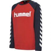 Hummel - Langermet T-skjorte boys, rød