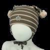 Kivat - Stripete lue med dusker og stjerne
