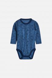 Hust&Claire - Body Birk med sport print  ull/silke, blues blå