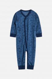 Hust&Claire - Heldress Mila med sport trykk ull/silke, blues blå