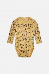 Hust&Claire - Body Baloo med sau ull/bambus, banana gul