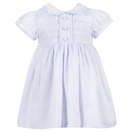 Patachou - Kortermet kjole med krage, lyseblå