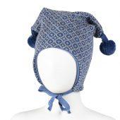 Kivat - Knyttelue med mønster, 67 blå