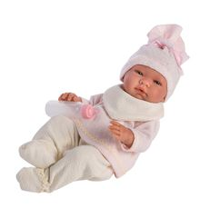Asi- Dukke Maria m/bukse - genser - lue og smekke,  offwhite/rosa