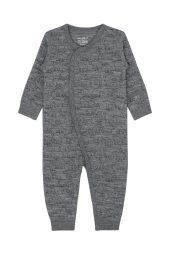 Hust&Claire - Heldress Milo med isbjørner i merinoull,  wool grey - aw18