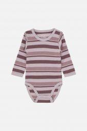Hust&Claire - Body Bo med striper, merinoull lavender - aw18