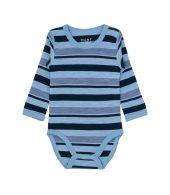 Hust&Claire - Body Bo med striper, merinoull blå - aw18
