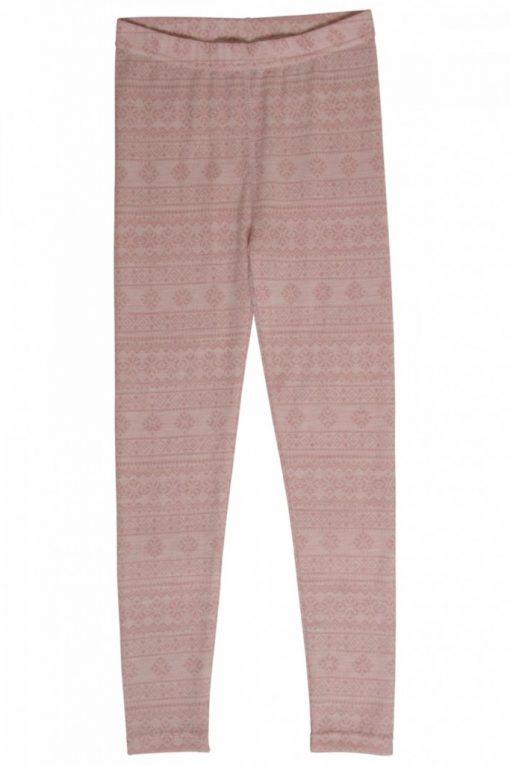 Hust&Claire - Leggings Laso med mønster, rosa - aw18