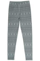Hust&Claire - Leggings Laso med mønster, offwhite - aw18