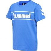 Hummel - T-shirt, blå m/logo