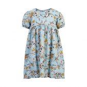 Creamie - Kjole Dobby med blomster, celestial blue