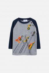 Hust&Claire - T-skjorte Allan, soft grey melange