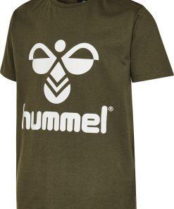 Hummel - T-shirt Tres, oliven