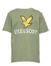 Lyle&Scott - T-skjorte med Logo, hedge green