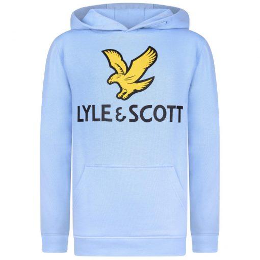 Lyle&Scott - Hettegenser med logo, chambray blue