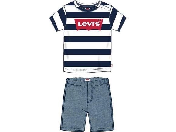 Levis -T-shirt og shorts
