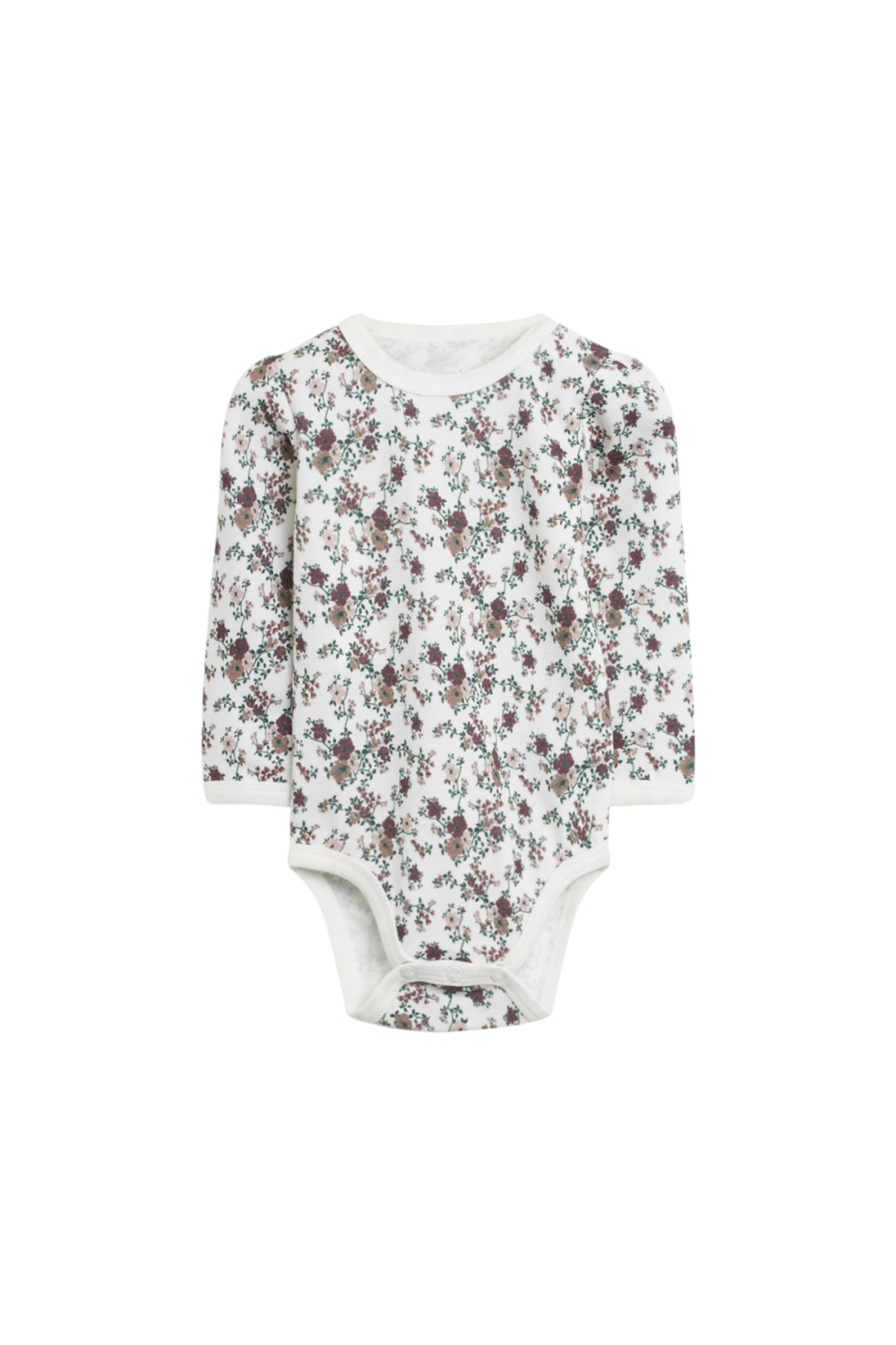 Hust and Claire - Body Baloo med blomster ull/bambus, offwhite