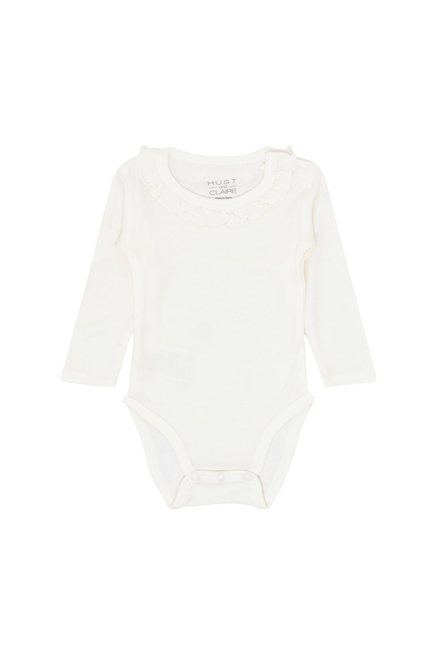 Hust&Claire - Body Barbara med krage ull/bambus, offwhite