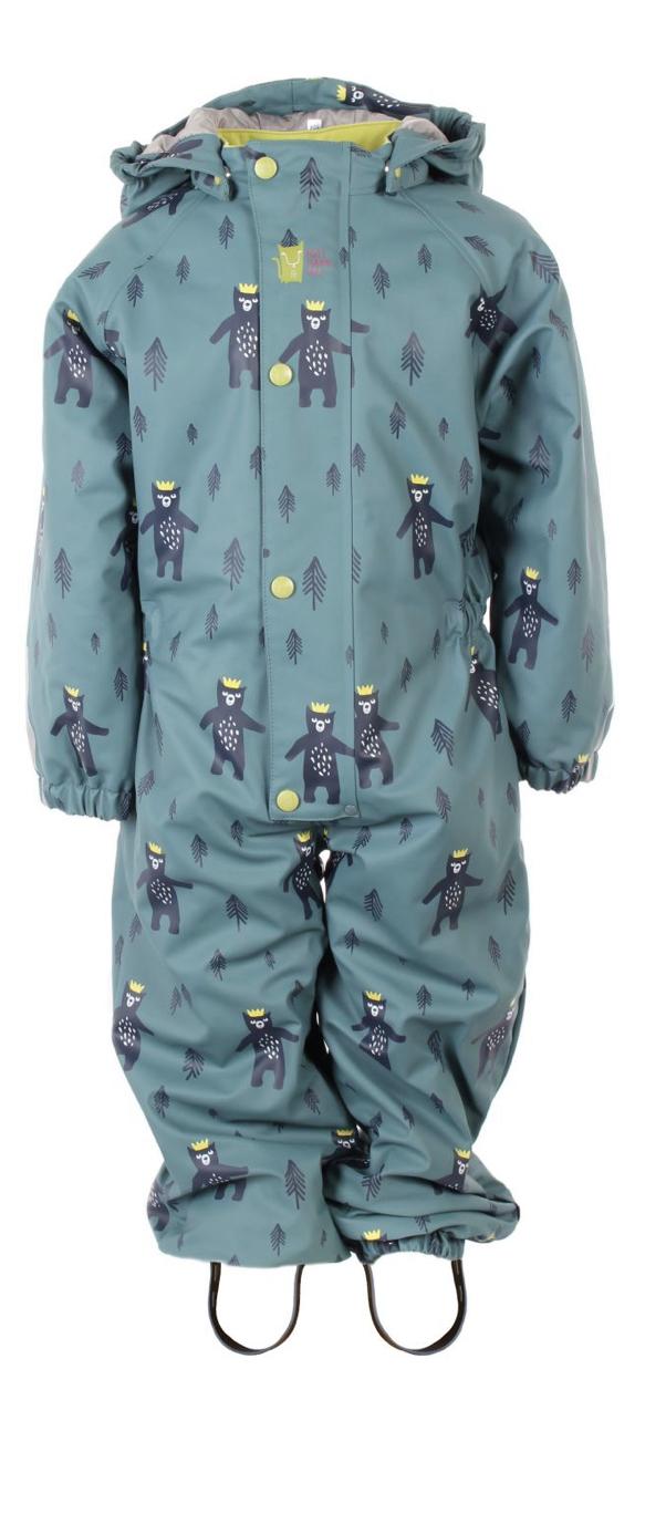 Kattnakken - FORHÅNDSBESTILLING - Vinterregndress Dansende bjørn, malaga blue
