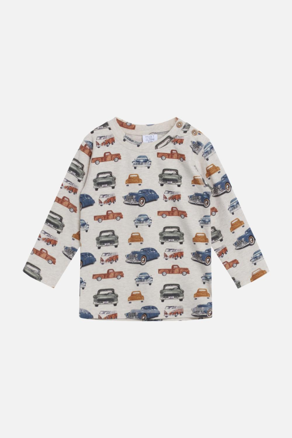 Hust and Claire - Anton - T-shirt l/s, Wheat